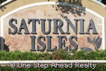 Saturnia Isles community sign