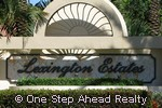 Lexington Estates community sign